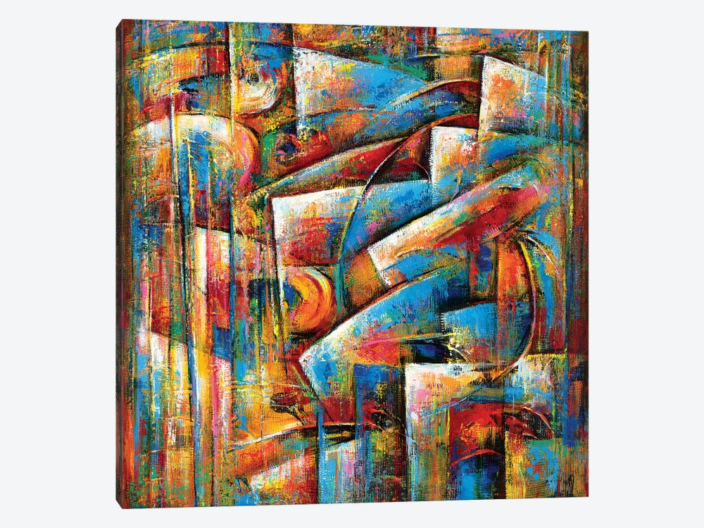Dance Of The Blues by Novik 1-piece Canvas Artwork
