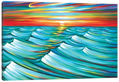 Evening Waves Canvas Art Print