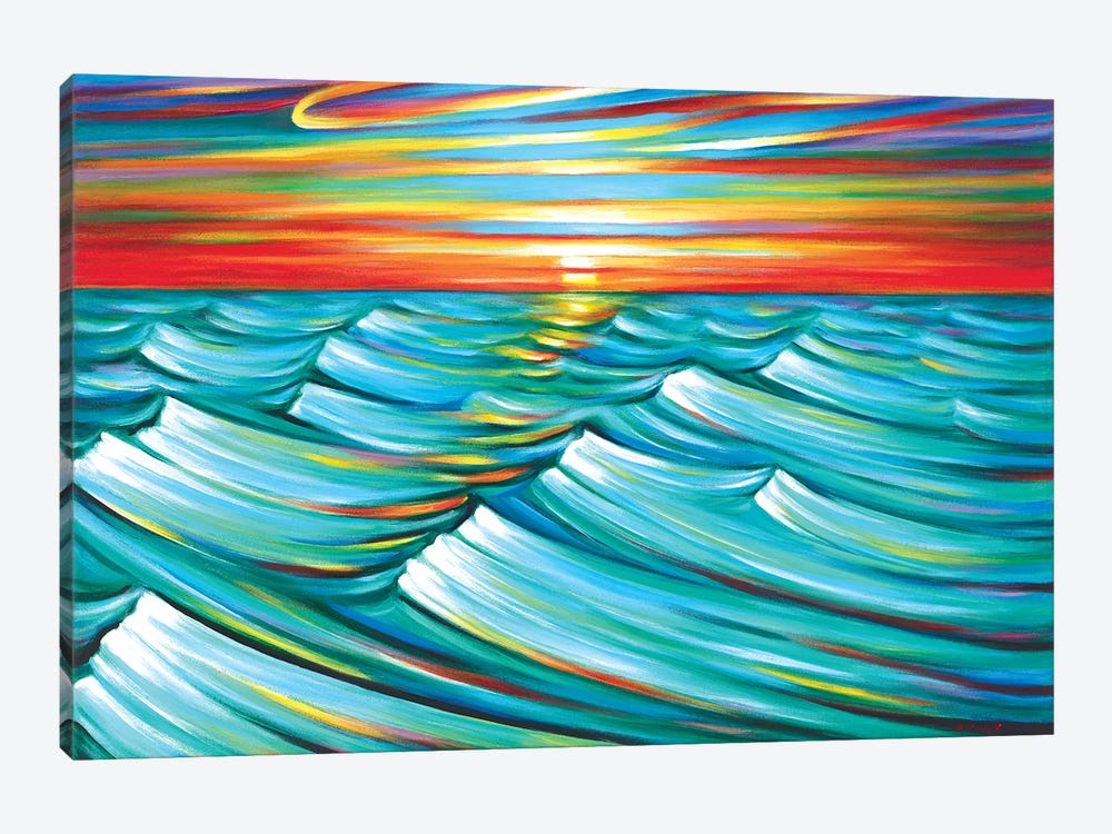 Evening Waves by Novik 1-piece Canvas Wall Art