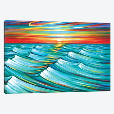 Evening Waves Canvas Print #NVK42} by Novik Canvas Wall Art