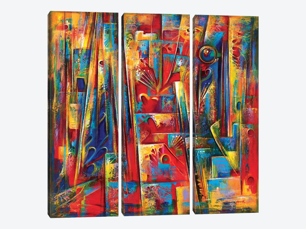 Fiesta by Novik 3-piece Canvas Print