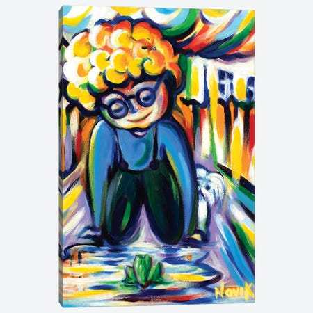 Friendly Look Canvas Print #NVK55} by Novik Canvas Artwork