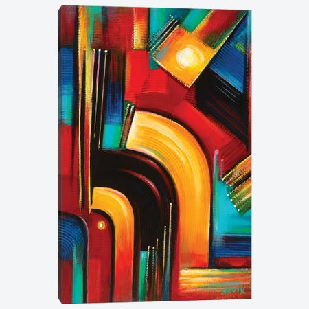 From The Sapce Station Canvas Print #NVK60} by Novik Canvas Artwork