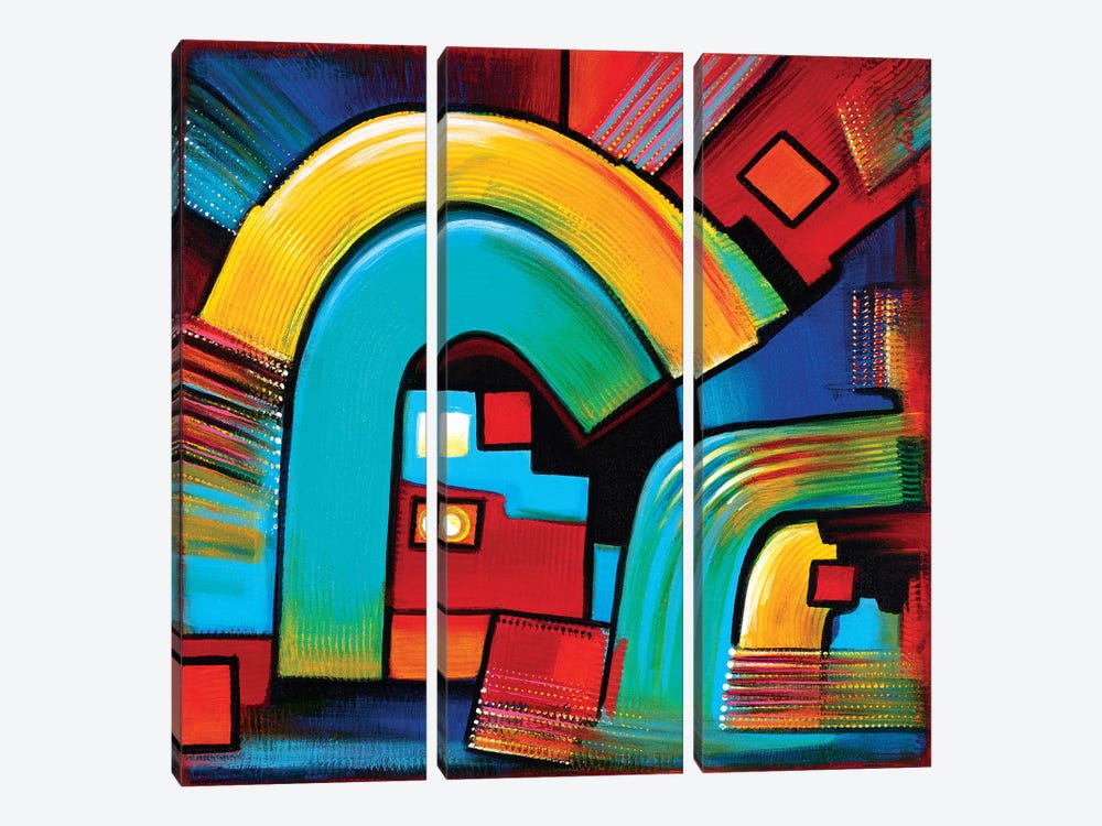 Gates Of Discovery by Novik 3-piece Canvas Wall Art