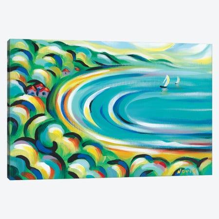 Green Bay Canvas Print #NVK67} by Novik Canvas Print