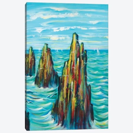 Guardians Of The Sea Canvas Print #NVK68} by Novik Canvas Wall Art