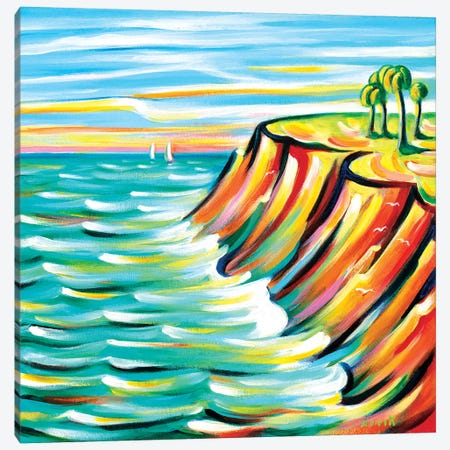 Looking At The Sea Canvas Print #NVK95} by Novik Canvas Wall Art