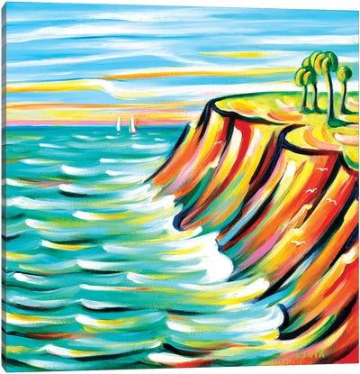 Looking At The Sea Canvas Art Print