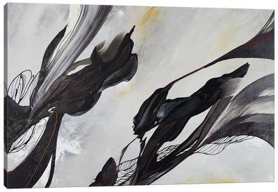 Swallows Descend And Chrysanthemums In Bloom Canvas Art Print