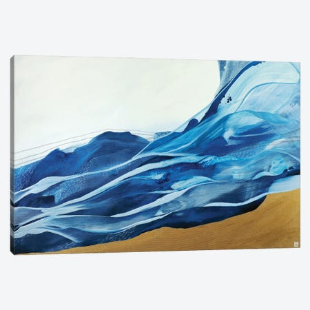 Dive to Blue Canvas Print #NVL58} by Novi Lim Canvas Wall Art