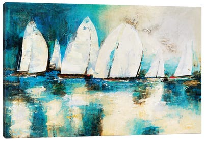 Velero Azul Canvas Art Print
