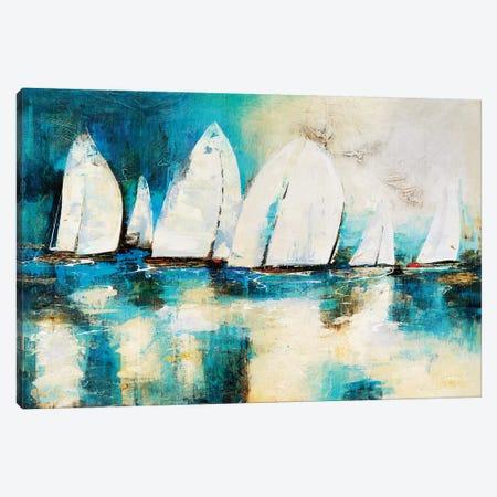 Velero Azul Canvas Print #NVS4} by Nancy Villareal Santos Art Print