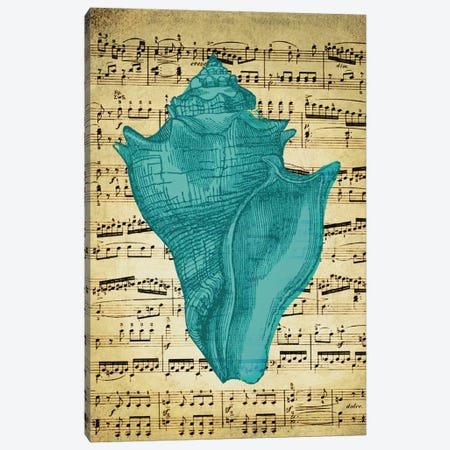 Blue Sea I Canvas Print #NWE10} by Natasha Wescoat Canvas Art