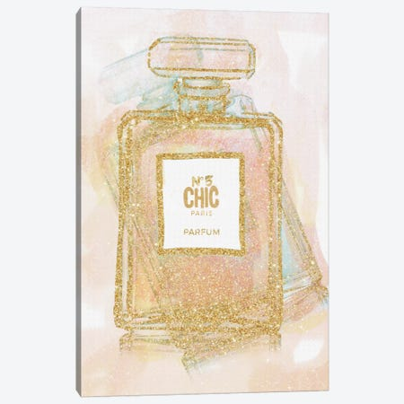 Chic Bottle I Canvas Print #NWE14} by Natasha Wescoat Art Print