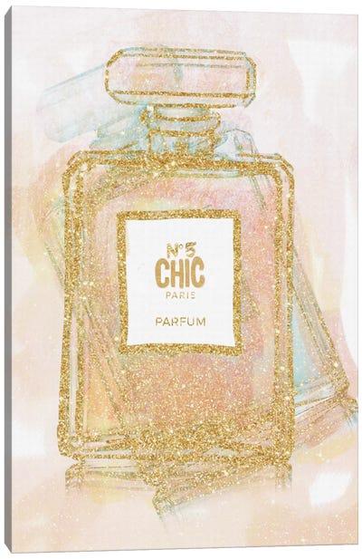 Chic Bottle I Canvas Print #NWE14
