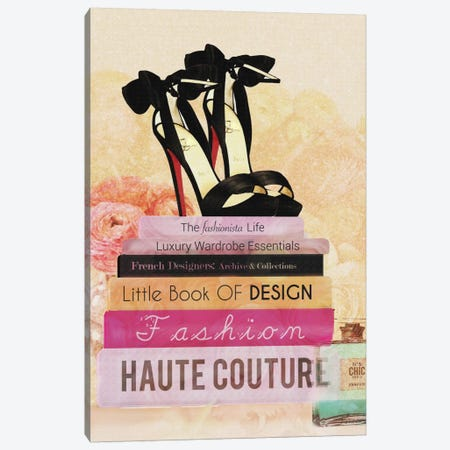 Fashionista Reads II Canvas Print #NWE24} by Natasha Wescoat Canvas Art