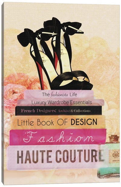 Fashionista Reads II Canvas Print #NWE24