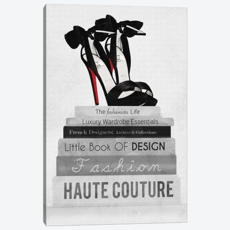 Fashionista Reads III Canvas Print #NWE25} by Natasha Wescoat Canvas Artwork
