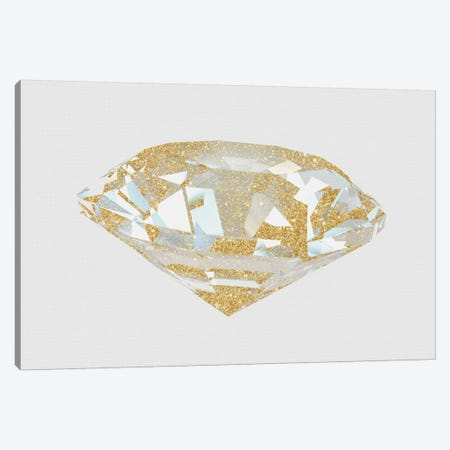 Gold Diamond I Canvas Print #NWE26} by Natasha Westcoat Canvas Wall Art