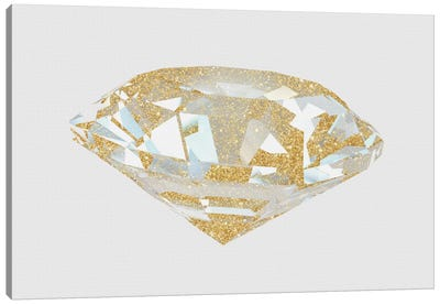 Gold Diamond I Canvas Print #NWE26