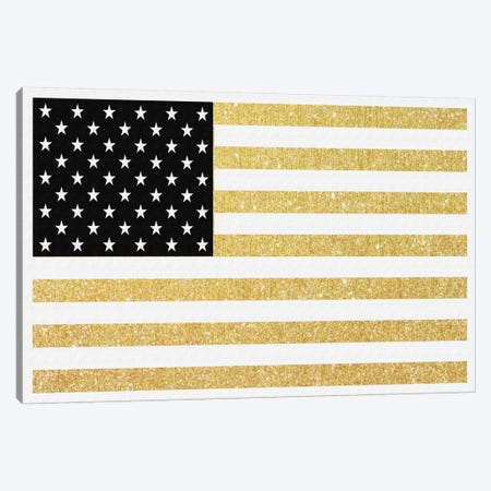 Gold Flag I Canvas Print #NWE27} by Natasha Westcoat Canvas Artwork