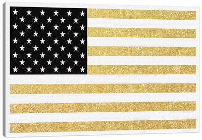 Gold Flag I Canvas Art Print