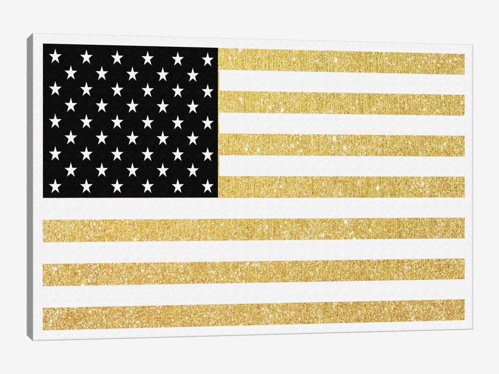 Gold Flag I by Natasha Westcoat 1-piece Canvas Art