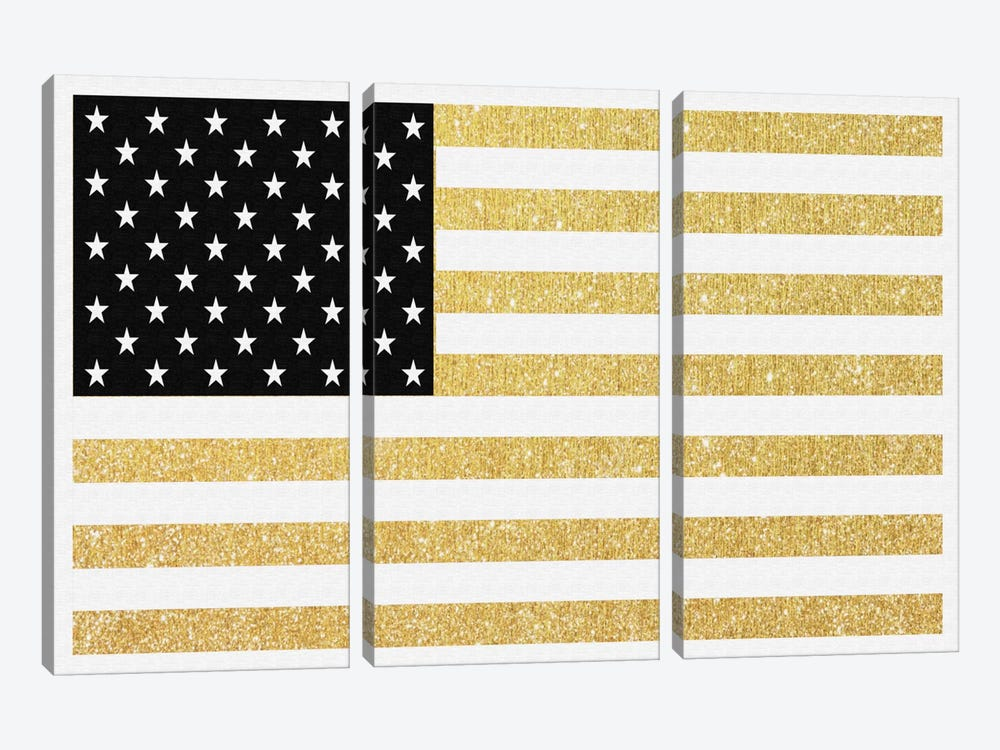 Gold Flag I by Natasha Westcoat 3-piece Canvas Art
