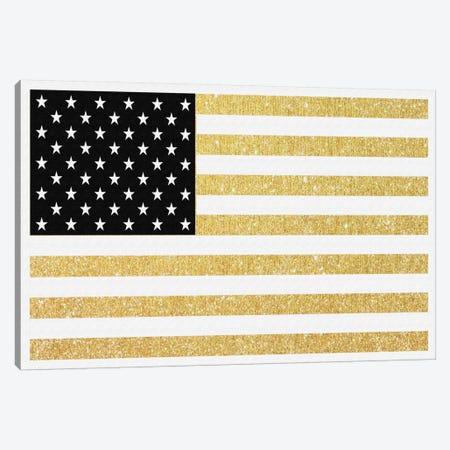 Gold Flag I Canvas Print #NWE27} by Natasha Wescoat Canvas Artwork