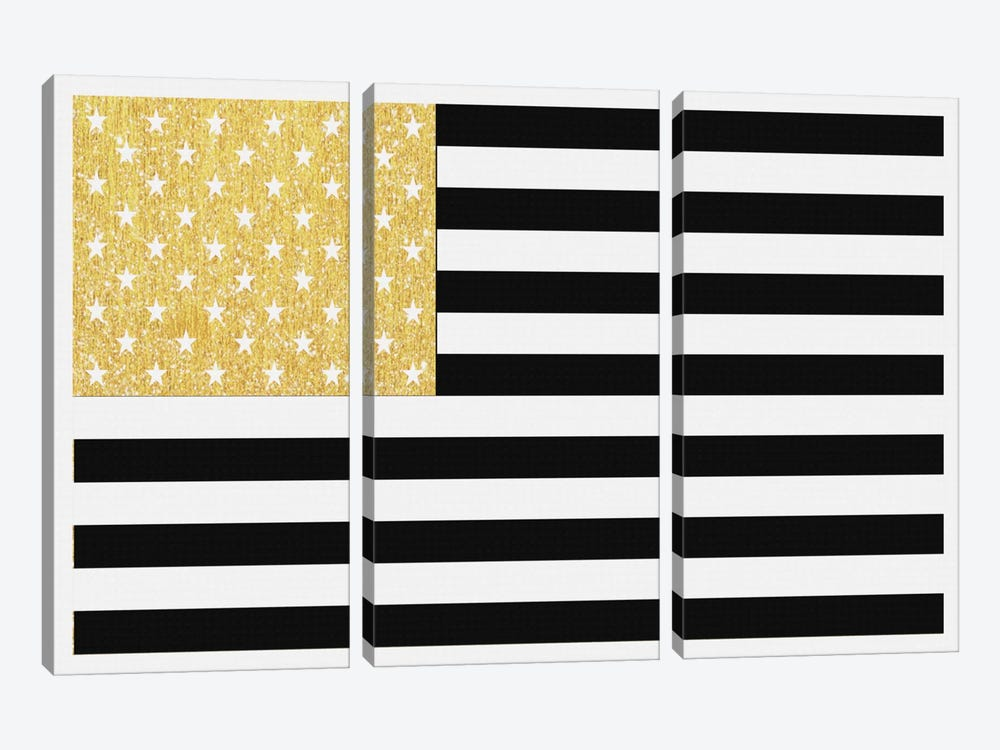 Gold Flag II by Natasha Westcoat 3-piece Art Print