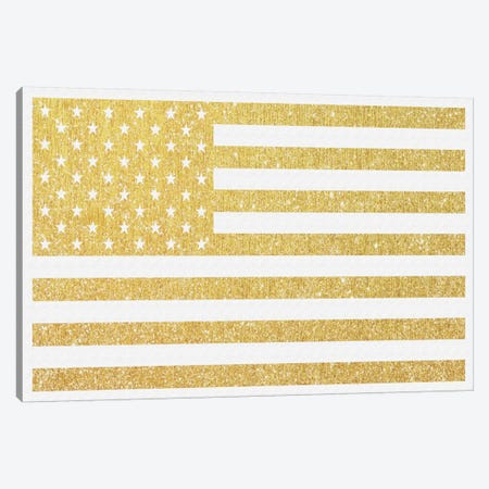 Gold Flag III Canvas Print #NWE29} by Natasha Westcoat Canvas Art Print