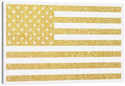 Gold Flag III Canvas Art Print