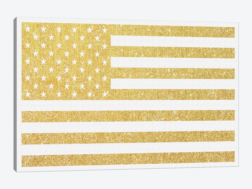 Gold Flag III by Natasha Westcoat 1-piece Canvas Artwork