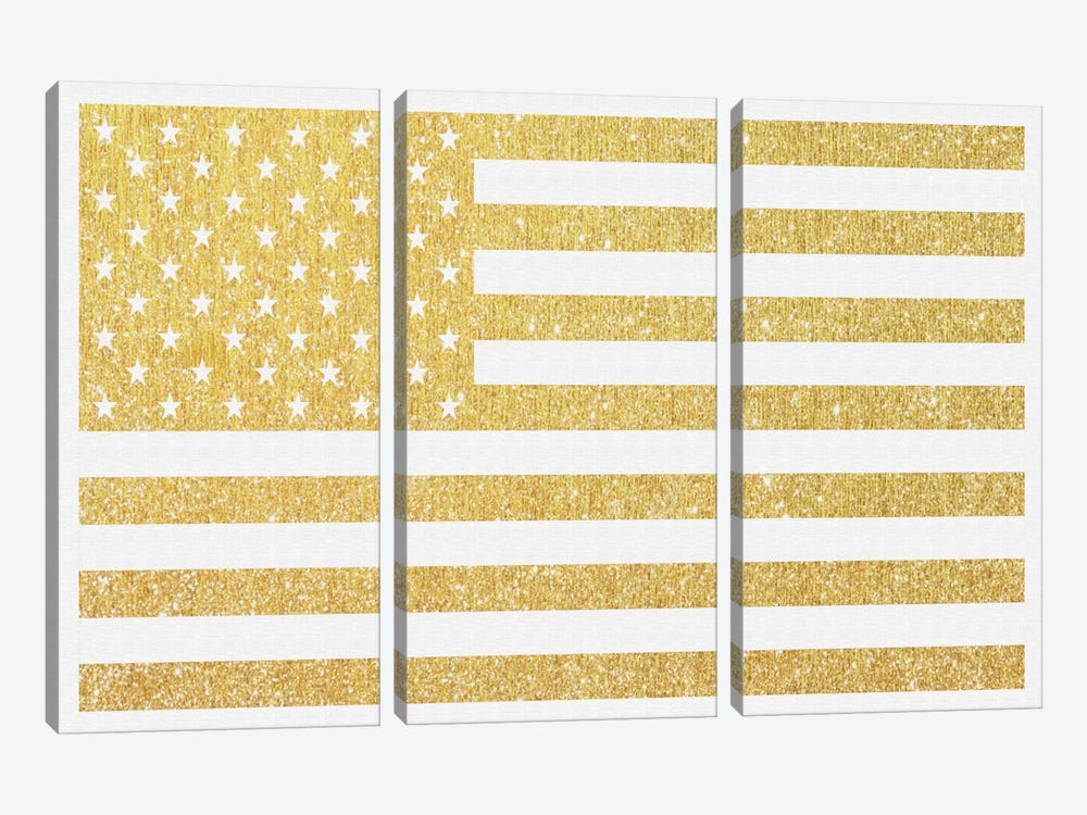 Gold Flag III 3-piece Canvas Art