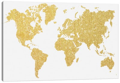 Gold Map Canvas Print #NWE30