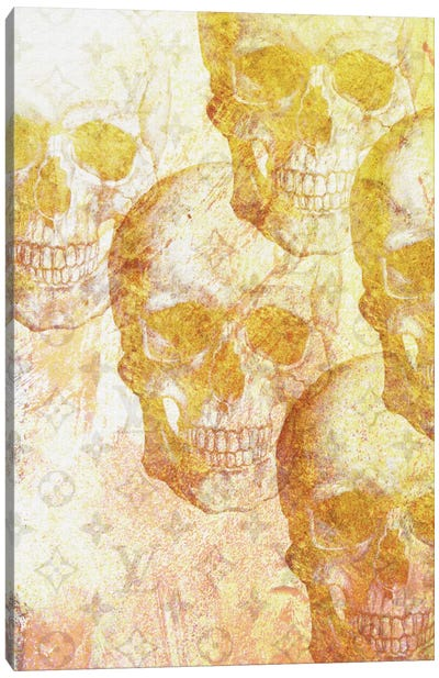 Gold Skulls Canvas Art Print