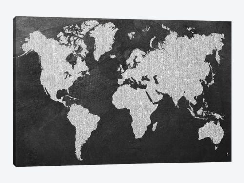 Grey map canvas print by natasha westcoat icanvas grey map 1 piece canvas art gumiabroncs Image collections