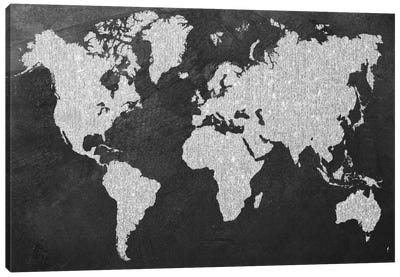 Grey Map Canvas Art Print