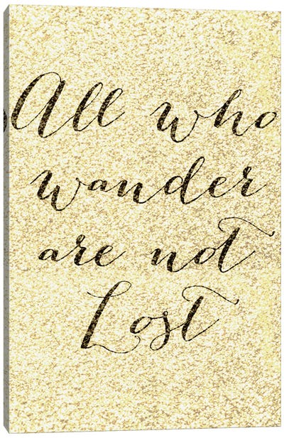 Not All Who Wander Canvas Print #NWE36