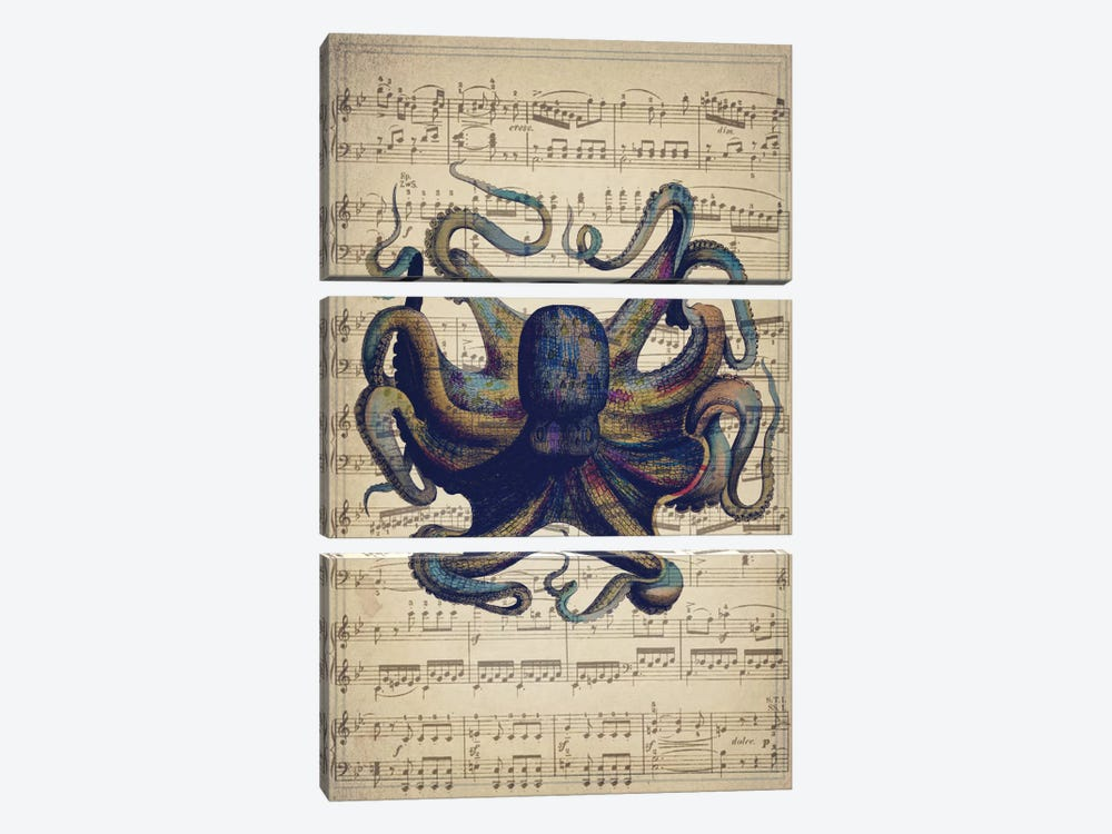 Octo I by Natasha Westcoat 3-piece Canvas Print