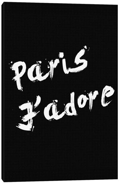 Paris Jadore Canvas Art Print