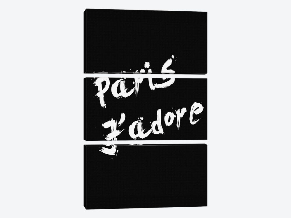 Paris Jadore by Natasha Westcoat 3-piece Canvas Wall Art