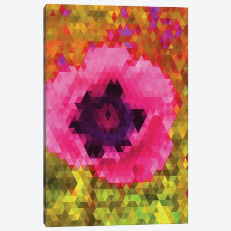 Pink Poppy Canvas Print #NWE45} by Natasha Westcoat Canvas Art