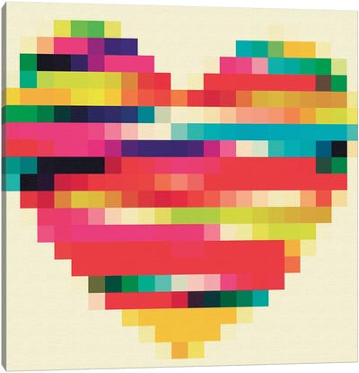 Rainbow Heart Canvas Print #NWE46