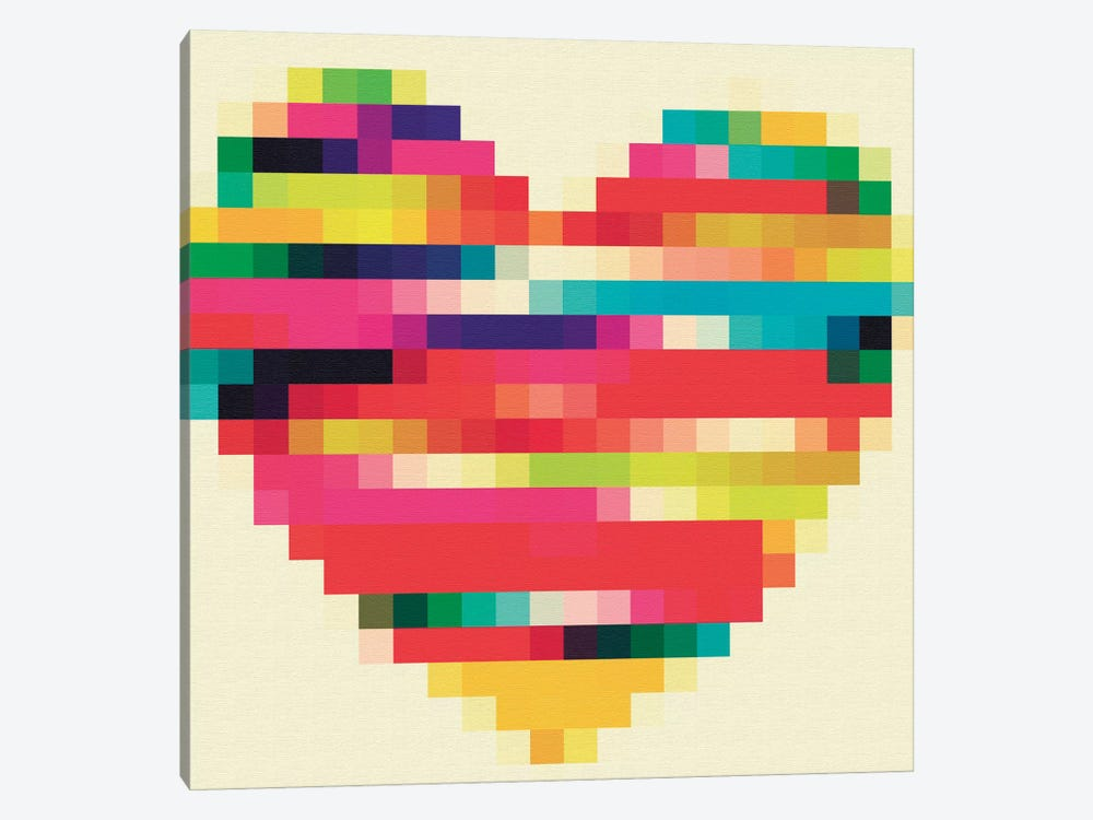 Rainbow Heart by Natasha Westcoat 1-piece Canvas Print