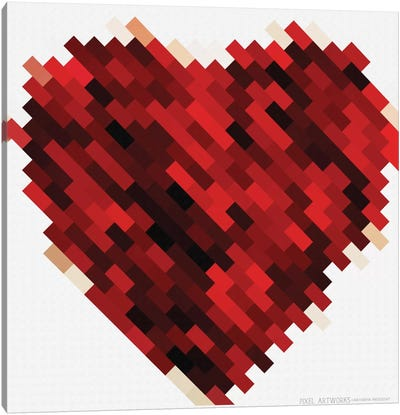 Rouge Heart Canvas Print #NWE52