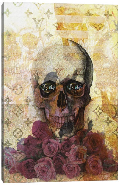 Skulls And Diamonds Canvas Print #NWE55