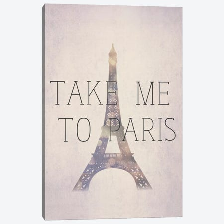 Take Me To Paris Canvas Print #NWE57} by Natasha Westcoat Canvas Print