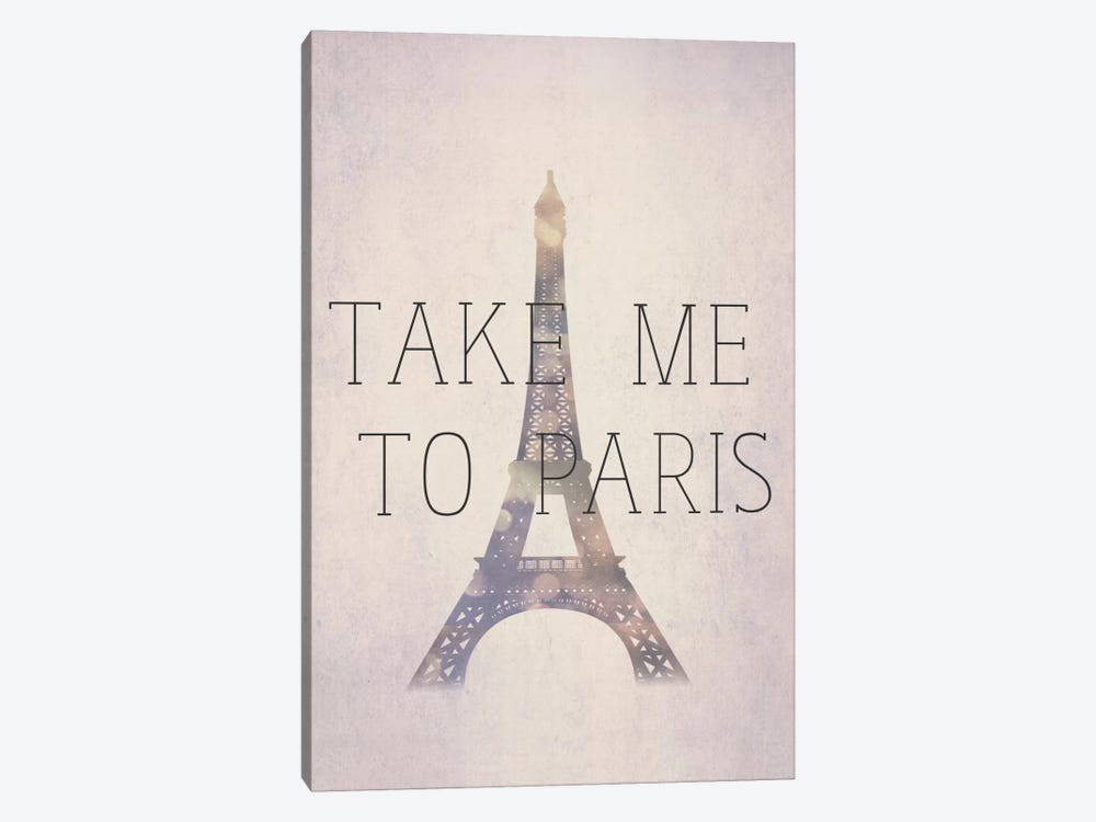 Take Me To Paris by Natasha Westcoat 1-piece Canvas Print