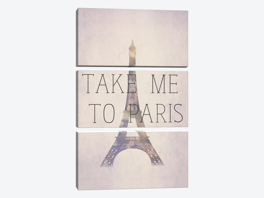 Take Me To Paris by Natasha Westcoat 3-piece Art Print